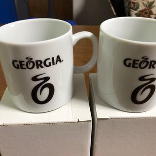コカコーラ(コカ・コーラ)の新品■未使用■ジョージア マグカップ 2個セット(グラス/カップ)