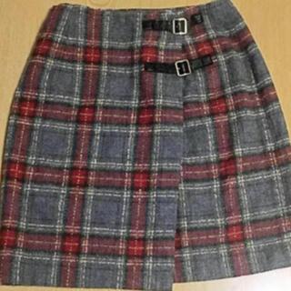 グリモワール(Grimoire)の昭和 レトロ スカート vintage チェック タイトスカート(ひざ丈スカート)