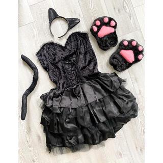 ブラックキャット ブラックウィッチ 黒猫 魔女 コスプレ コスチューム(衣装一式)