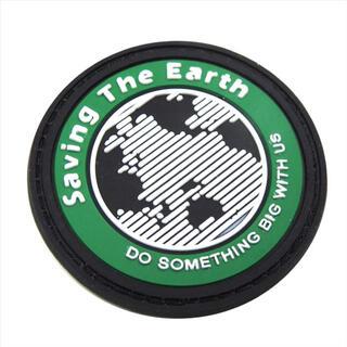 ワッペン ベルクロ/Saving The Earth 緑/マジック ミリタリー(その他)