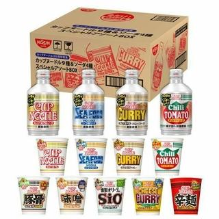 ニッシンショクヒン(日清食品)の日清 カップヌードル 50周年記念 カップヌードル9種&ソーダ4種セットBOX(インスタント食品)