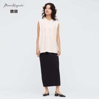 マメ(mame)のユニクロ mame エアリズムコットンスリットスカート UNIQLO マメ(ロングスカート)
