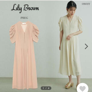 Lily Brown - リリーブラウン Lilly brown シフォンタックワンピース