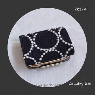 ミナペルホネン(mina perhonen)の2212* 現品 ミナペルホネン がま口三つ折り財布(財布)