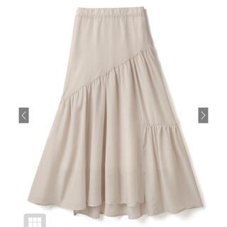 グレイル(GRL)のグレイル シアーアシンメトリーティアードマーメイドスカート(ロングスカート)