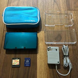 ニンテンドー3DS(ニンテンドー3DS)のニンテンドー3DS アクアブルー +おまけ(家庭用ゲーム機本体)