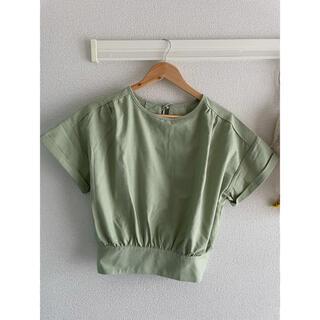 グレイル(GRL)のGRL リネン混バックリボンブラウス(シャツ/ブラウス(半袖/袖なし))