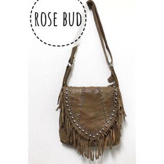 ローズバッド(ROSE BUD)のROSE BUD スタッズ×フリンジ ショルダー バッグ(ショルダーバッグ)