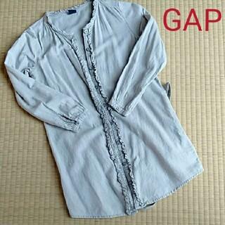 ギャップ(GAP)の美品★GAP120★シャツワンピ★(Tシャツ/カットソー)