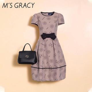 M'S GRACY - インスタ掲載💕エムズグレイシー💕新品タグ付 モチーフ ワンピース 36
