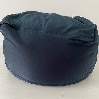 ムジルシリョウヒン(MUJI (無印良品))の無印良品ビーズクッション 紺色(ビーズソファ/クッションソファ)