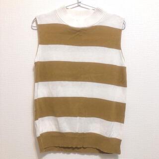 アングリッド(Ungrid)のUngrid ボーダー ニットベスト(Tシャツ(半袖/袖なし))