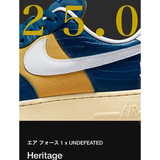 UNDEFEATED - UNDEFEATED × NIKE AIR FORCE 1 LOW 25.0