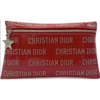 ディオール(Dior)のDIOR ディオール ポーチ 赤 スタッズ ノベルティ 化粧ポーチ スター(ポーチ)