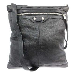 バレンシアガ(Balenciaga)のバレンシアガ ポシェット レザー 牛革 シルバー金具 黒 ブラック 39092(ショルダーバッグ)