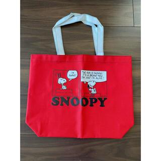 SNOOPY - 新品 SNOOPY トートバッグ 赤