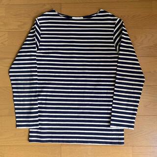 コモリ(COMOLI)のcantate Horizontal Stripe Shirt ストライプ(Tシャツ/カットソー(七分/長袖))