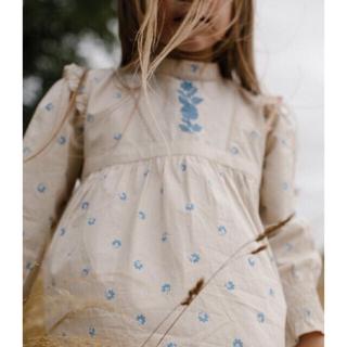 キャラメルベビー&チャイルド(Caramel baby&child )のapolina  Janis dress 肩フリル 刺繍ワンピース(5-7Y)(ワンピース)