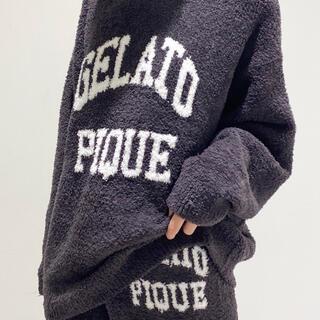 gelato pique - 新品☆パウダーロゴジャガードプルオーバー&ロングパンツセット☆チャコールグレー