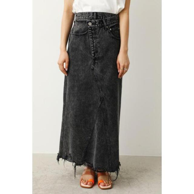 RODEO CROWNS WIDE BOWL(ロデオクラウンズワイドボウル)のケミカルデニムスカート レディースのスカート(ロングスカート)の商品写真