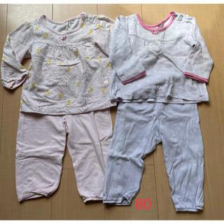 ユニクロ(UNIQLO)のユニクロ パジャマ 女の子 80 セット売り(パジャマ)