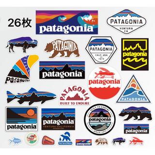 ★発送補強有り★パタゴニア アウトドア キャンプ 防水ステッカー計26枚セット