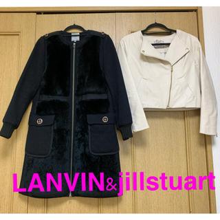 ランバンオンブルー(LANVIN en Bleu)の本日限定価格!ロングコートand フェイクレザージャケット(ロングコート)
