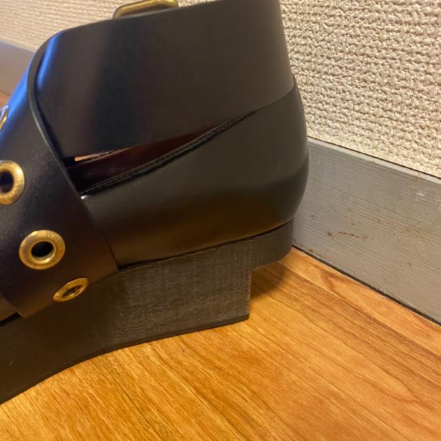 Vivienne Westwood(ヴィヴィアンウエストウッド)のヴィヴィアンウエストウッド ロッキンホース バックルバレリーナ レディースの靴/シューズ(ローファー/革靴)の商品写真