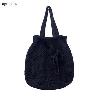 agnes b. - 【Agnes b.】ニットトートバッグ ブラック アニエスベー