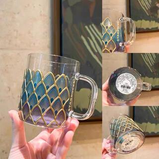 Starbucks Coffee - 【スターバックス海外限定】日本未発売  マグカップ グラスカップ 人魚 鱗