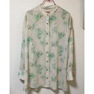 ジーナシス(JEANASIS)のマーブル柄バンドカラーシャツ(シャツ/ブラウス(長袖/七分))
