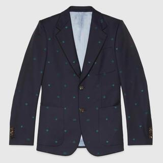 グッチ(Gucci)の新品 GUCCI 20AW シンボル ウール ジャガード テーラードジャケット(テーラードジャケット)