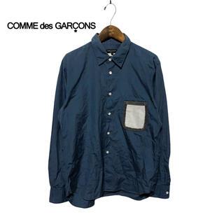 コムデギャルソン(COMME des GARCONS)の【COMMEdesGARCONS】異素材ドッキング 長袖シャツ (シャツ)