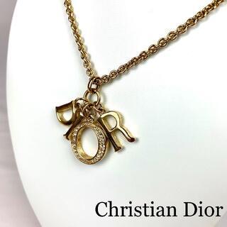 Christian Dior - Christian Dior DIORロゴ ラインストーン ネックレス
