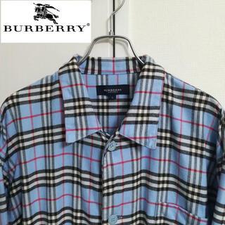 BURBERRY - バーバリーロンドン パジャマシャツ ノバチェック ビッグシルエット ビッグサイズ