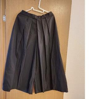 MUJI (無印良品) - 無印良品 はかまパンツ XLサイズ ブラック