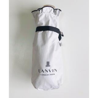 ランバン(LANVIN)のランバン 折りたたみ傘 グレー(傘)
