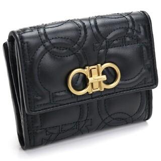 フェラガモ(Ferragamo)のフェラガモ 二つ折財布 22-D339 0695499 NERO レディース(財布)