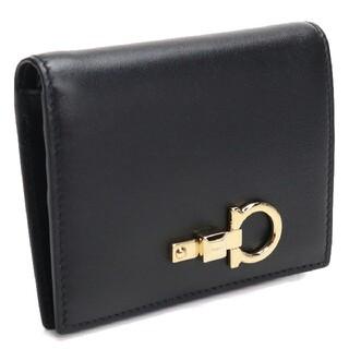 フェラガモ(Ferragamo)のフェラガモ 二つ折財布 22-E032 0734429 NERO レディース(財布)