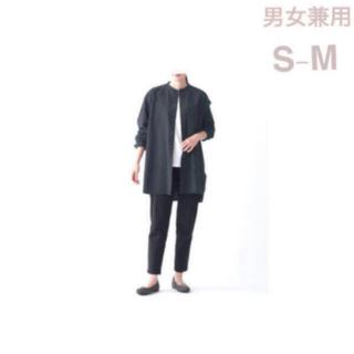 ムジルシリョウヒン(MUJI (無印良品))の無印良品     洗いざらしオックスミドル丈シャツ  男女兼用S-M・ 黒(シャツ)