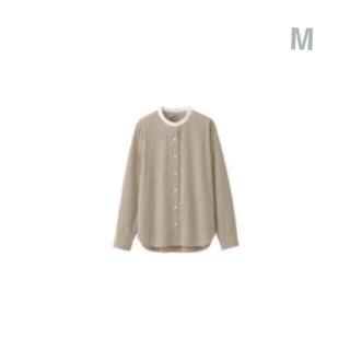 ムジルシリョウヒン(MUJI (無印良品))の無印良品     洗いざらしブロ-ドスタンドカラーシャツ M モカブラウン(シャツ/ブラウス(長袖/七分))