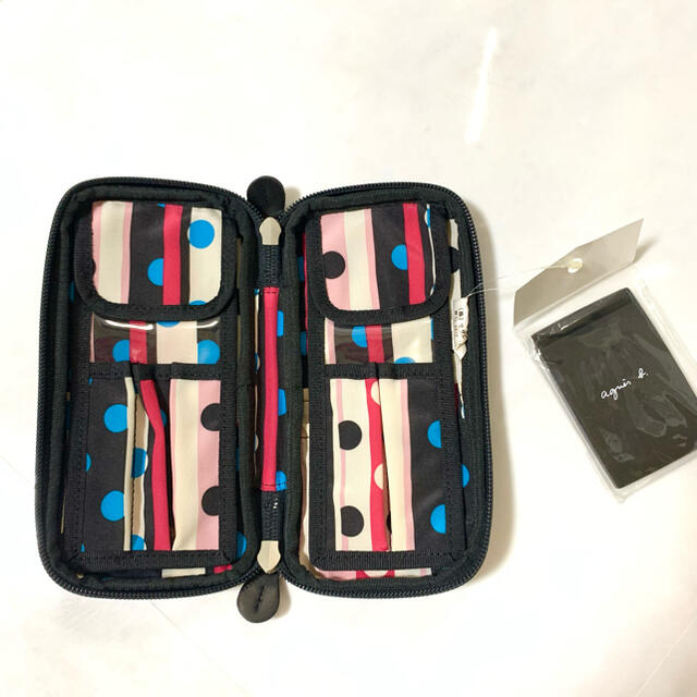 agnes b.(アニエスベー)の未使用 アニエスベー ミラー付き ポーチ レディースのファッション小物(ポーチ)の商品写真