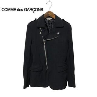 コムデギャルソン(COMME des GARCONS)の【COMMEdesGARCONS】ポリ縮絨 ライダースジャケット(ライダースジャケット)