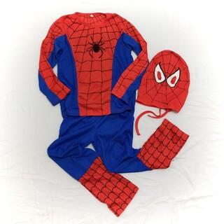 スパイダーマン 変身コスチューム 120 ハロウィン(衣装一式)