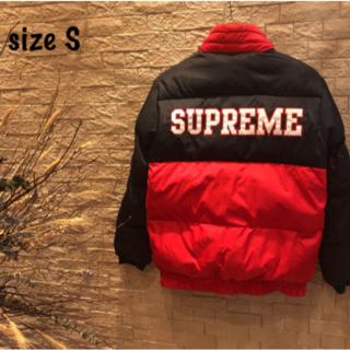 supreme 14A/W ワッペンロゴリバーシブルパフィーダウンジャケット