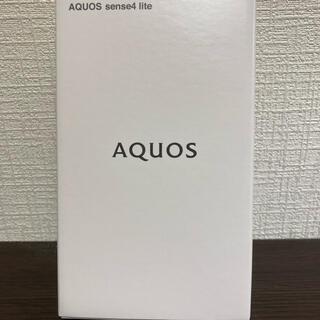 シャープ(SHARP)のSHARP AQUOS   sense4 lite  SH-RM15 ブラック(スマートフォン本体)