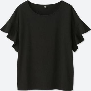 UNIQLO - ユニクロ フリルスリーブTシャツ
