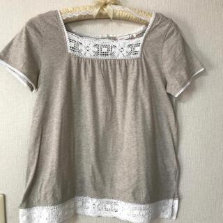 サマンサモスモス(SM2)のサマンサモスモスコットンレース付きTシャツ(カットソー(半袖/袖なし))