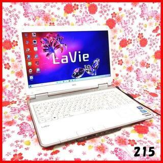 エヌイーシー(NEC)の215ノートパソコン本体♪Corei5♪新品SSD♪初心者も安心♪Win10(ノートPC)