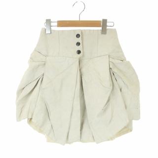 ヴィヴィアンウエストウッド(Vivienne Westwood)のヴィヴィアンウエストウッド フレアスカート ミニ ギャザー 8 M アイボリー(ミニスカート)